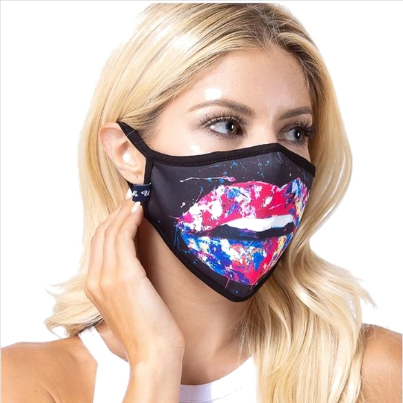 Multi-Color Lips Face Mask