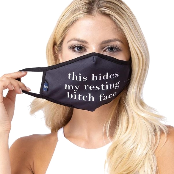 Resting Bitch Face Mask
