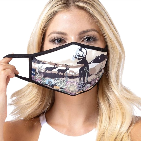 Deer Scenery Print Face Mask - 9 Pack