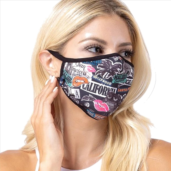 Welcome to LA Print Face Mask