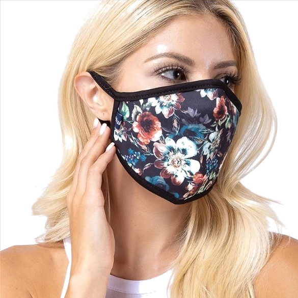 Daisy Multi Print Face Mask - 6 Pack