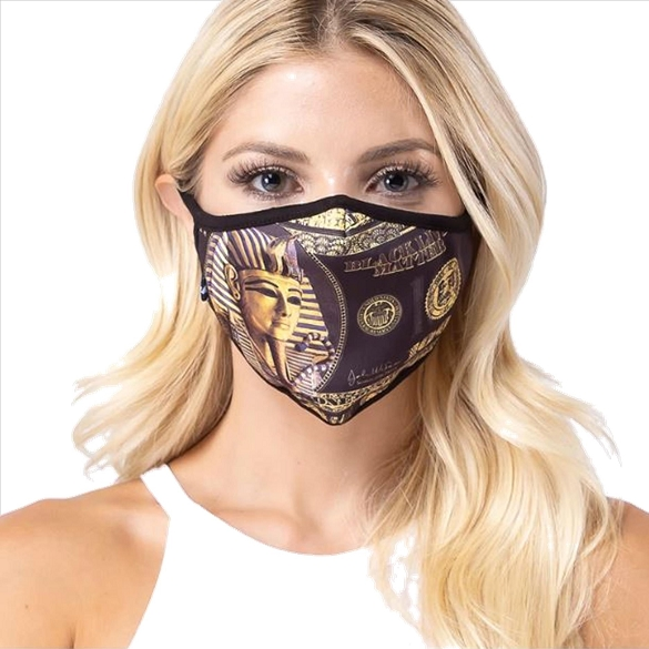 Egyptian Print Face Mask - 6 Pack