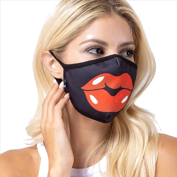 Red Lip Face Mask - 3 Pack