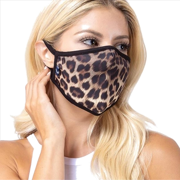 Leopard Print Face Mask - 5 Pack