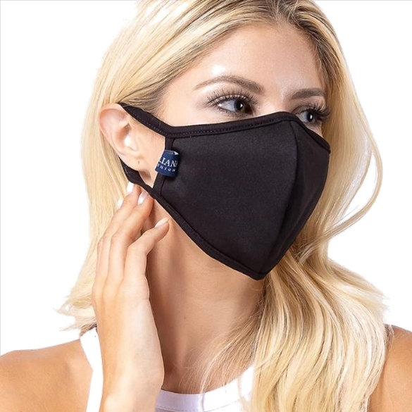 Black Solid Filter Washable and Reusable Face Mask