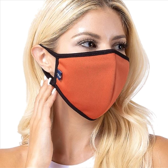Rust Solid Filter Washable and Reusable Face Mask