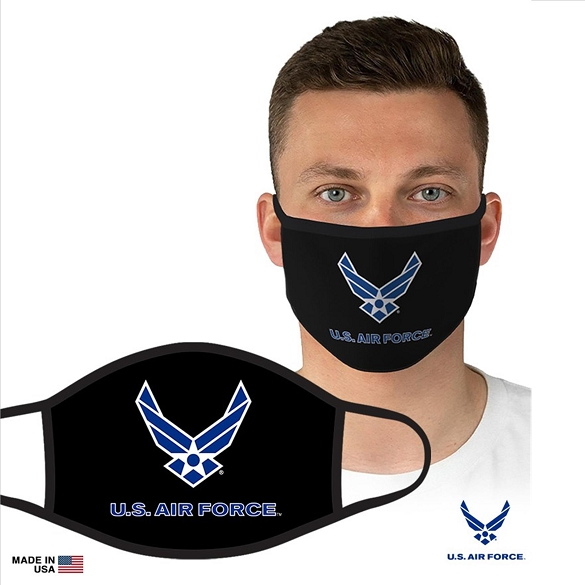 US Military Officially Licensed Air Force Face Masks - Black