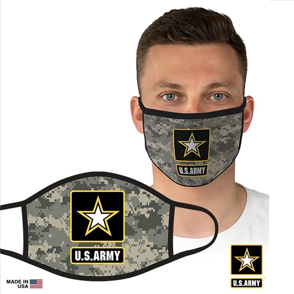 US Military Officially Licensed Army Face Masks - Camo