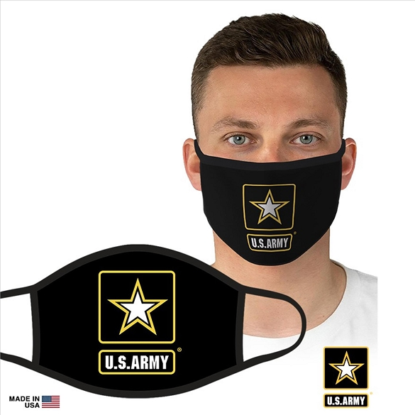 US Military Officially Licensed Army Face Masks - Black