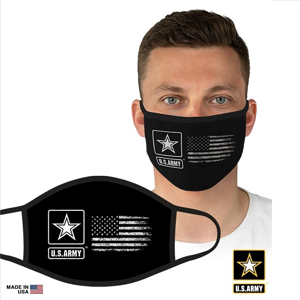 US Military Officially Licensed Army Face Masks - White