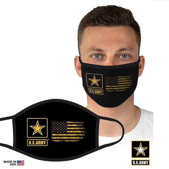 US Military Officially Licensed Army Face Masks - Yellow