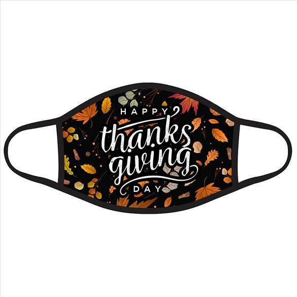 Happy Thanksgiving Day with Leaves Face Masks #2695