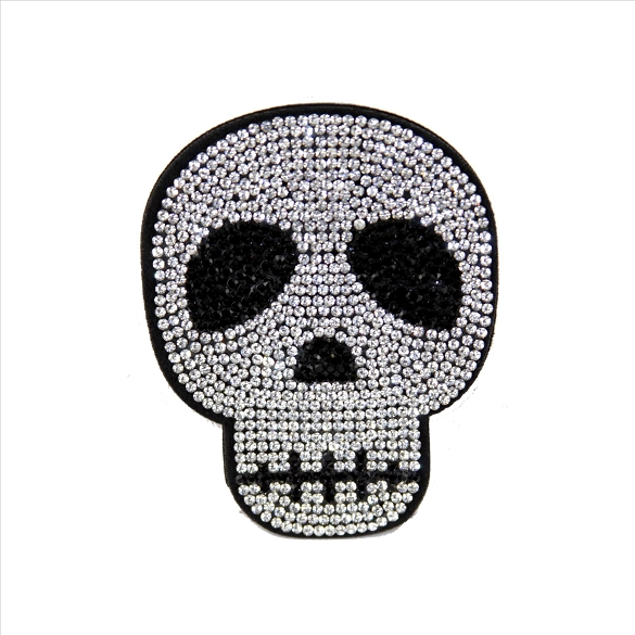 Bling Rhinestone Skull Pin Brooch