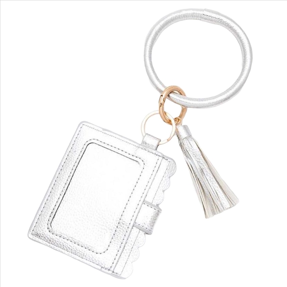 Wristlet ID Card Holder - Silver