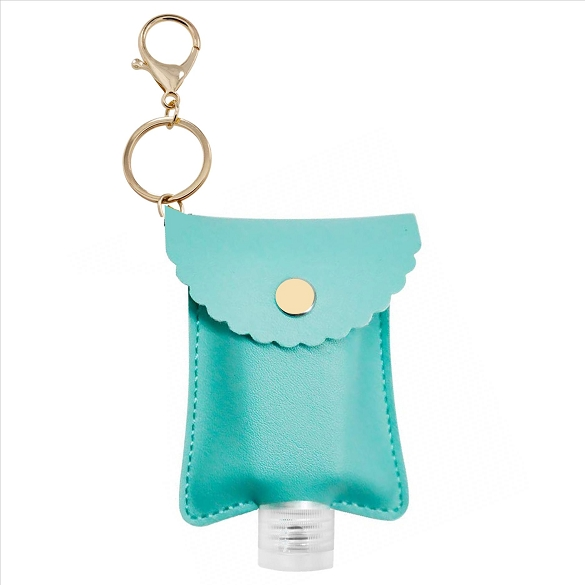 Hand Sanitizer Holder Key Chain - Turquoise