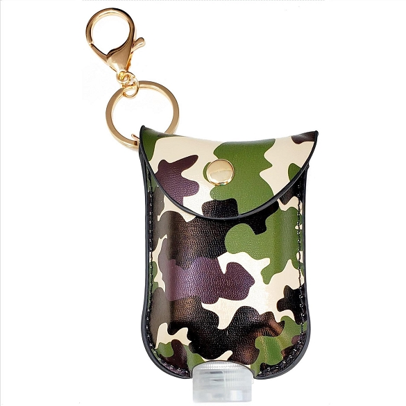 Mini Sanitizer Holder and Key Chain - Camouflage Print