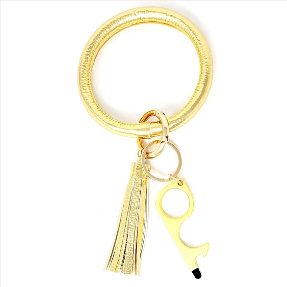 Tassel Bangle with Germ Free Touchless Key - Gold