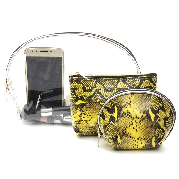 3 in 1 Awesome Travel Buddy - Snake Print Yellow