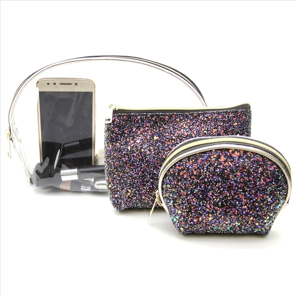 3 in 1 Awesome Travel Buddy - Sparkle Black