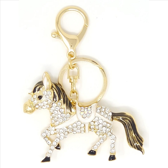 Crystal Horse Key Chain / Purse Charm