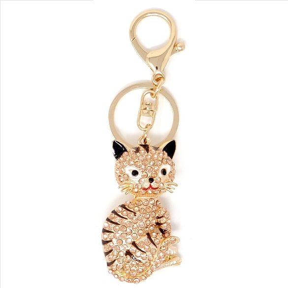 Crystal Cat Key Chain / Purse Charm