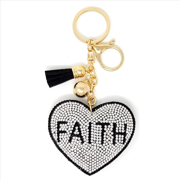 Faith Puffy Tassel Key Chain