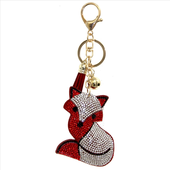 Fox Puffy Tassel Key Chain