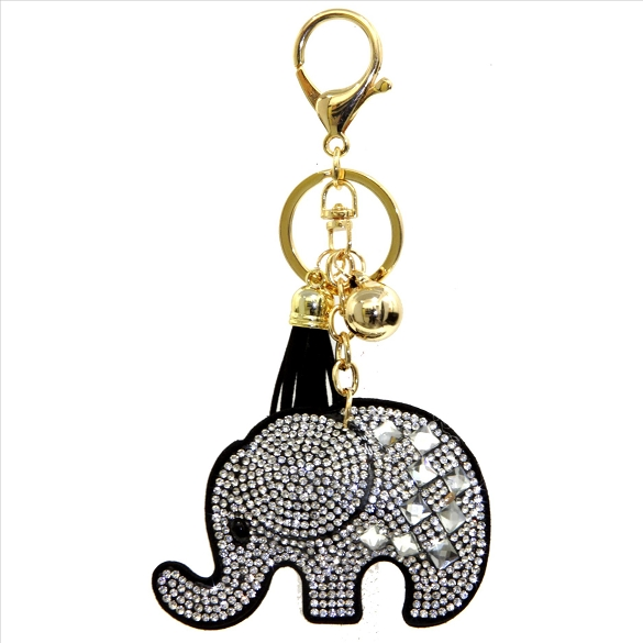 Elephant Puffy Tassel Key Chain