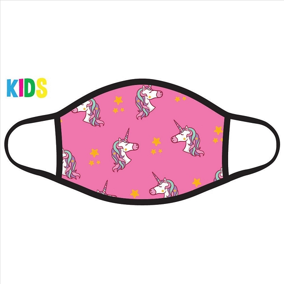 Unicorns on Pink Kids Face Masks