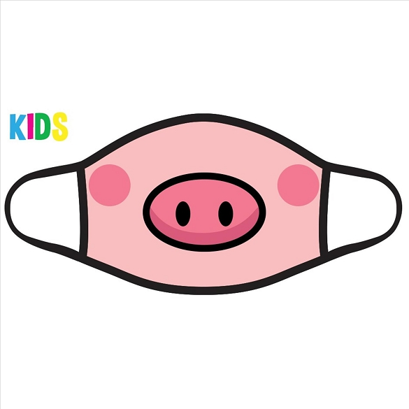 Pig Snout Kids Face Mask