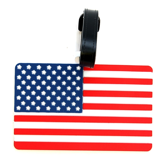 Graphic American Flag Luggage Tag