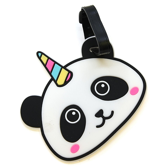Graphic Unicorn Panda Luggage Tag