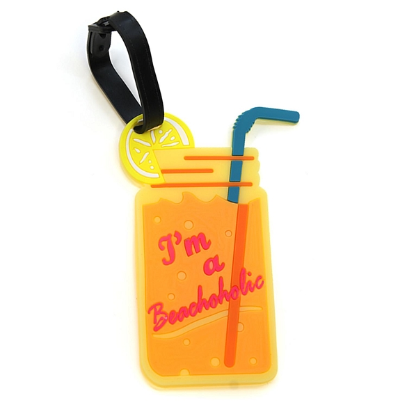 Graphic Beachaholic Luggage Tag