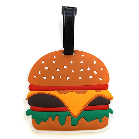 Cheeseburger Luggage Tag