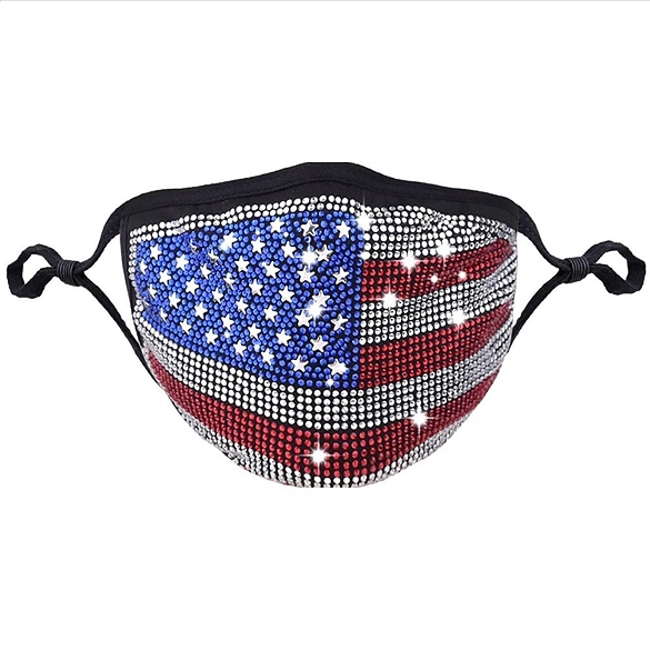 American Flag Crystal Masks