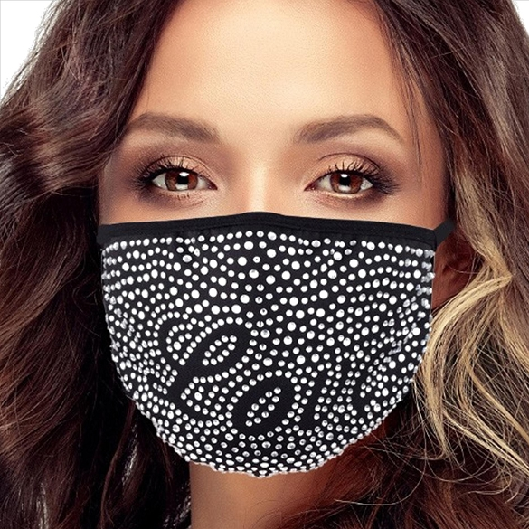 Austrian Crystal Face Masks - LOVE