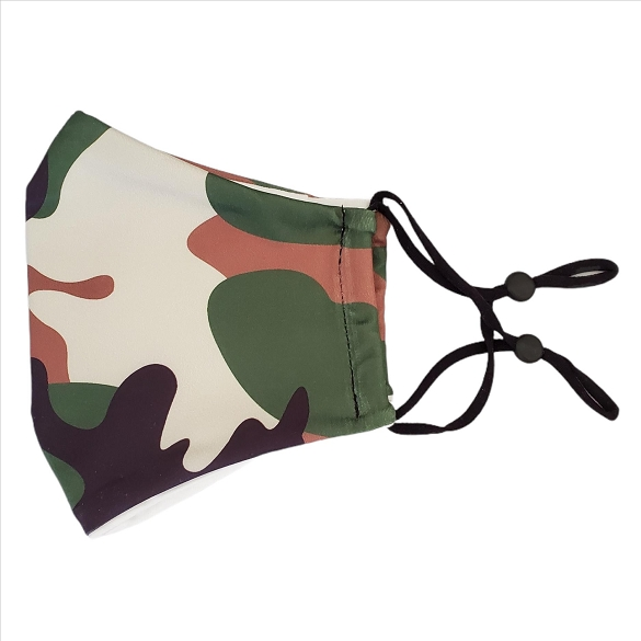 Camouflage Print Face Masks - 10 Pack