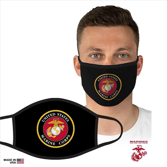 Officially Licensed US Marines Face Masks - Black
