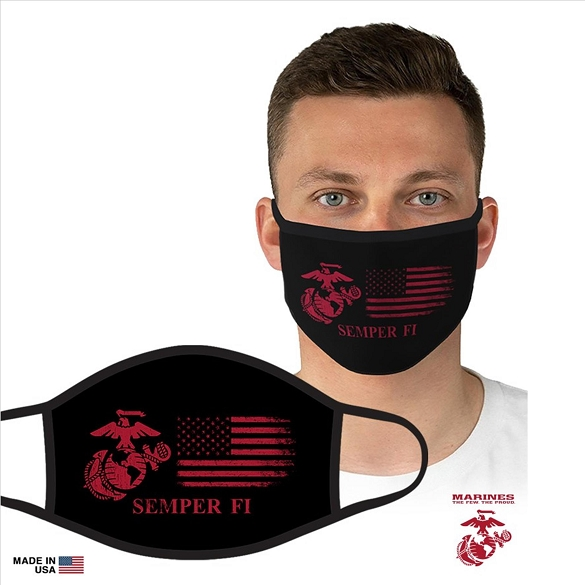 US Military Officially Licensed Marine Face Masks - Red
