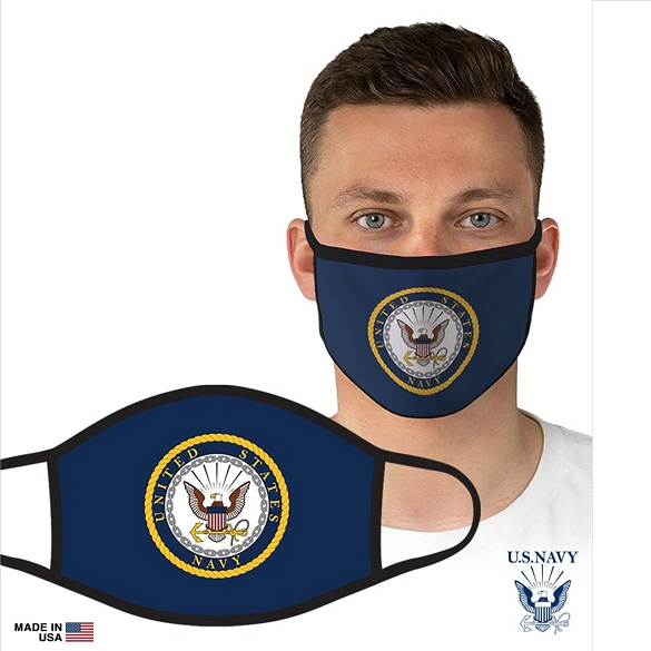 US Military Officially Licensed Navy Face Masks - Navy