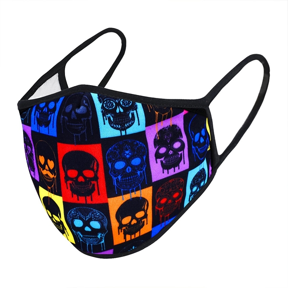 Multi-Color Skull Print Face Mask - 5 Pack