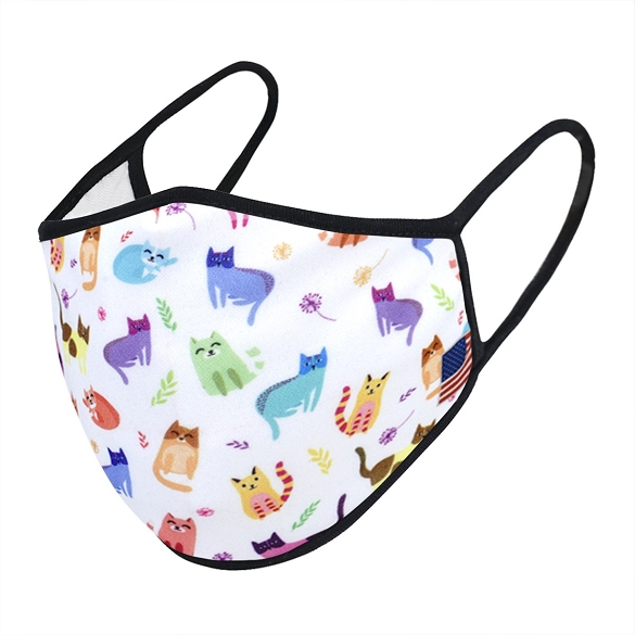 Multi-Kitty Print Face Mask - 6 Pack