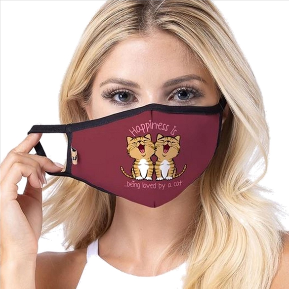 Happiness is...Cats Print Face Masks
