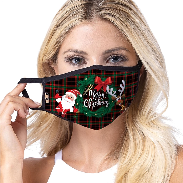 Christmas Claus Face Masks - IN STOCK