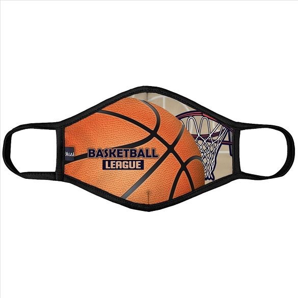 Basketball League Face Mask - 6 Pack