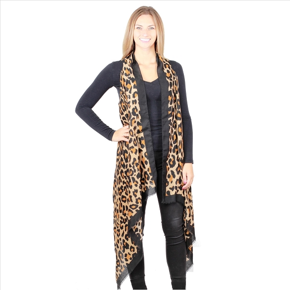 6 Pack Fabulous Cheetah Print Vests