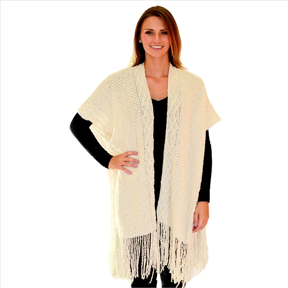 6 Pack Intricate Knit Cardigan - Ivory