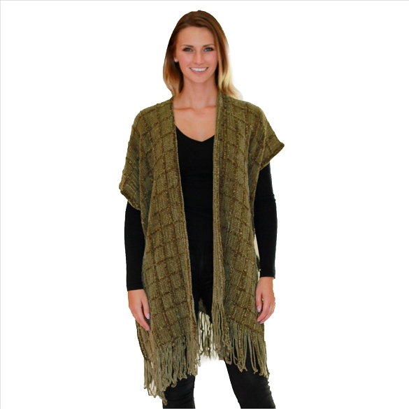 6 Pack Knit Cardigan - Olive