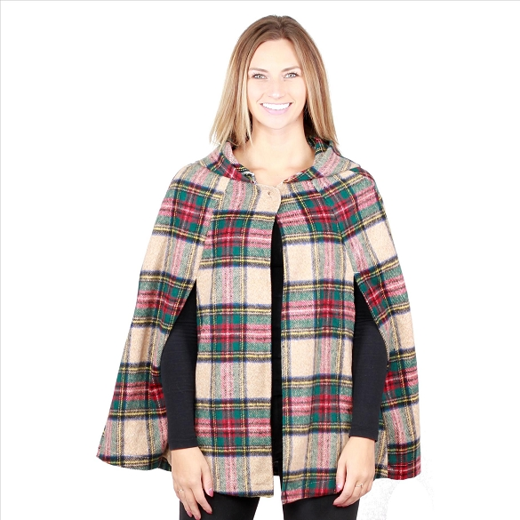 6 Pack Plaid Capes with Hood