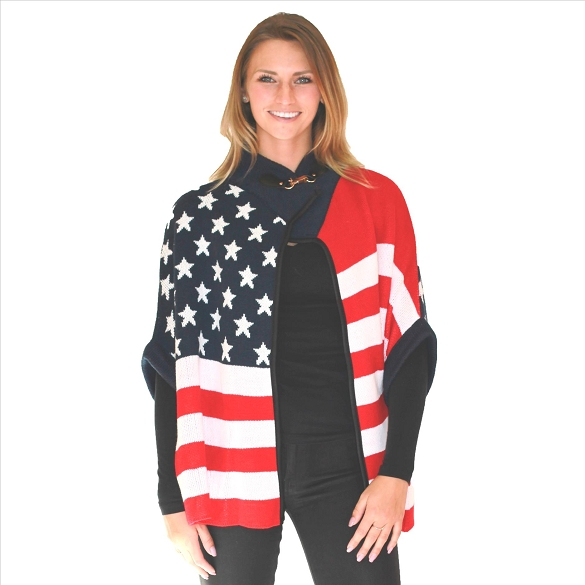 6 Pack American Flag Print Cape